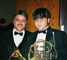 French horn student with Dr. Robert W. Smith