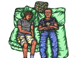 Sam and Papa Nieme Sleeping