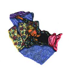 Self-Portrait Sleeping in Flannel