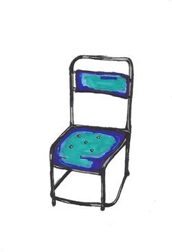 Blue Metal Chair