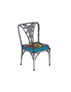 1960's Cast Iron Lawn Chair
