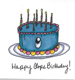 Happy Clops Birthday! (Blue Cake)