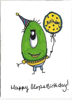 Happy Clops Birthday (Yellow)