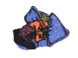 Self-Portrait Cuddling