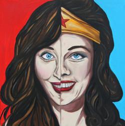 Lisa +Lynda Carter as Wonder Woman