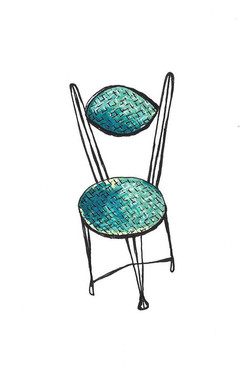 1960's Ice Cream Parlor Chair