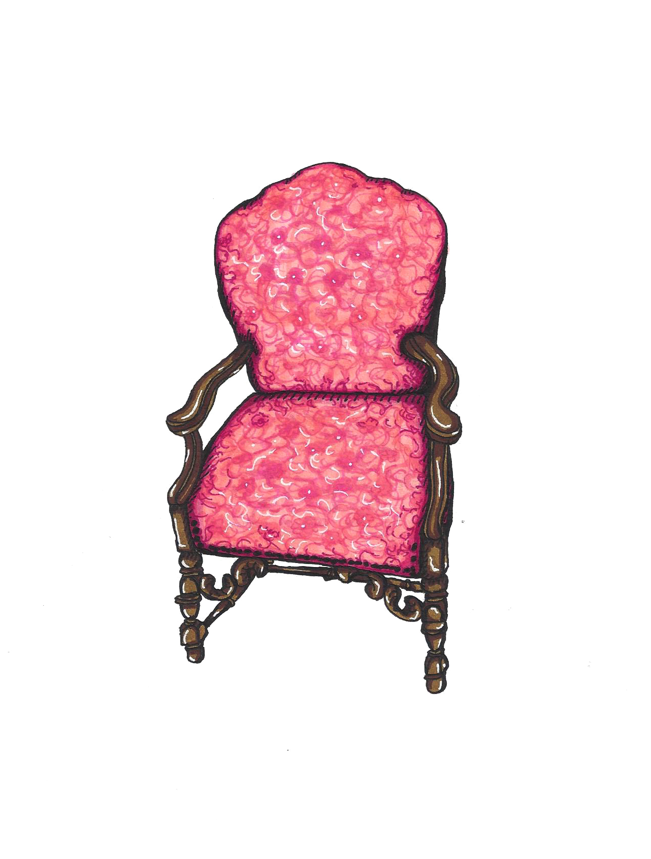 Grandma Ella's Pink Chair
