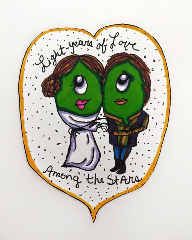 Leia & Han Solo Clops Valentine 2016