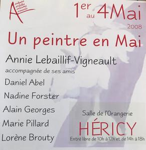 """Annie Lebaillif expose au salon """"Un Peintre en Mai"""" . Héricy . du 1er au 4 Mai 2008"""