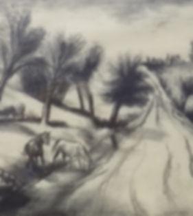 "B.J.O. Nordfeldt ""Horses at Roadside #2"""
