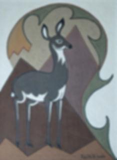 Pablita Velarde -The Deer