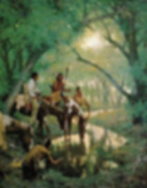 Howard Terpning -Cheyenne at Disappearing Creek Called White Woman