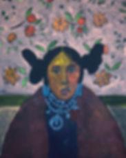 "Aaron Freeland ""Hopi Maiden w/Blossoms"""