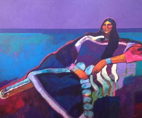 "John Nieto  ""Reclining Squaw"" 60 x 72  Acrylic/Canvas"