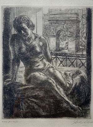 "John Sloan ""Nude and Arch"""