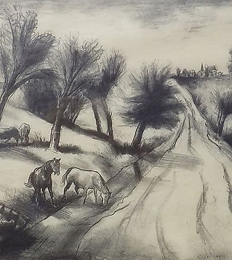 "B.J.O. Nordfeldt ""Horses at Roadside #2"""