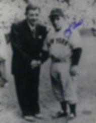 Yogi Berra with Babe Ruth