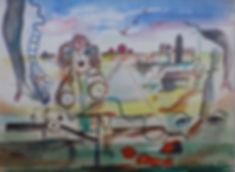Alfred Morag - Surrealist Landscape w/Women