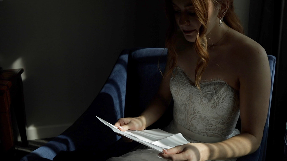 Philadelphia Wedding - Bride - Love Note