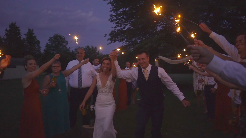 New Jersey Wedding Videography - Sparkler Sendoff
