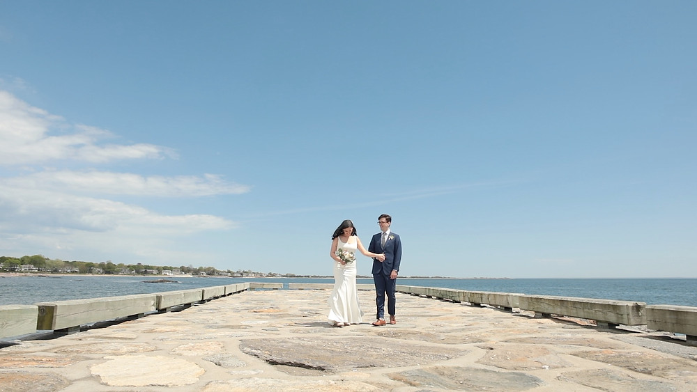 East Wharf Beach Park - Connecticut Wedding