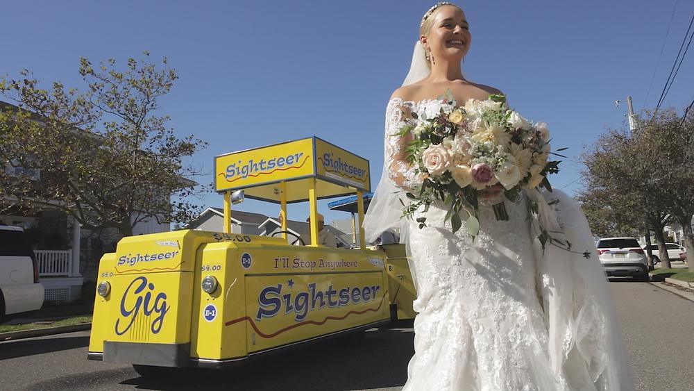 Sightseer Tramcar - Wildwood New Jersey Wedding