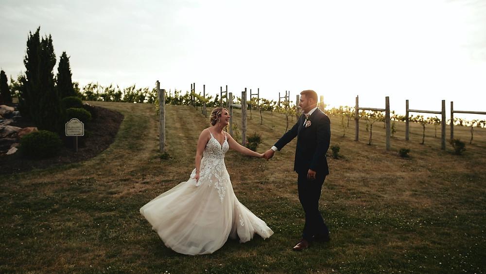 Bride & Groom - Winery Wedding - Lehigh Valley