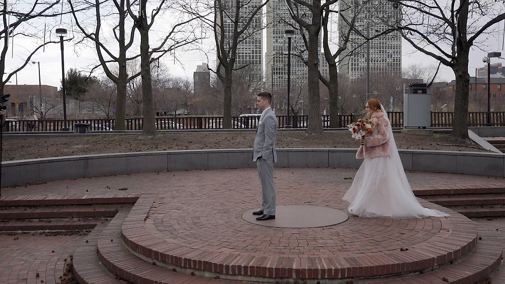 Penns Landing - First Look - Philadelphia Wedding