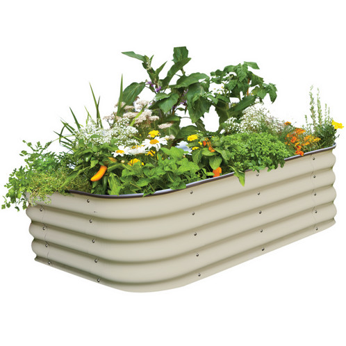 raised metal garden bed in merino color - Garden Bed