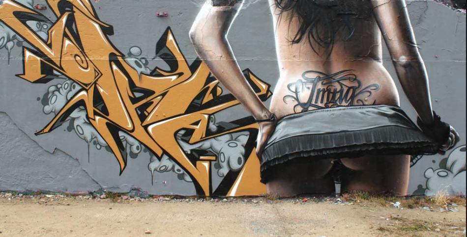 Sexy Graffiti Woman Bathroom Shower Curtain