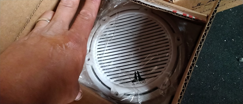 JL audio marine component speakers white grill Pair