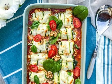 low carb zucchini-röllchen ⠀⠀⠀⠀⠀⠀⠀⠀