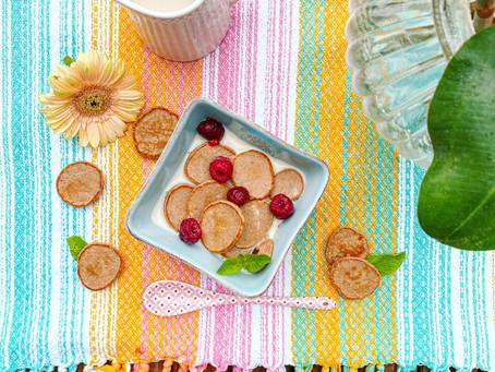 mini-protein-pancakes zum frühstück