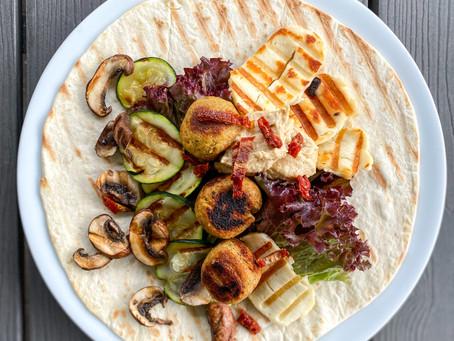 Dürüm mit Falafel und Grillgemüse  ⠀⠀⠀⠀⠀⠀⠀⠀⠀⠀⠀⠀⠀