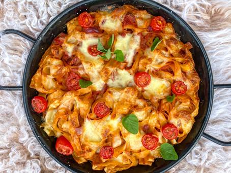 tomate-mozzarella-nudelpfanne ⠀⠀⠀⠀⠀⠀⠀⠀⠀