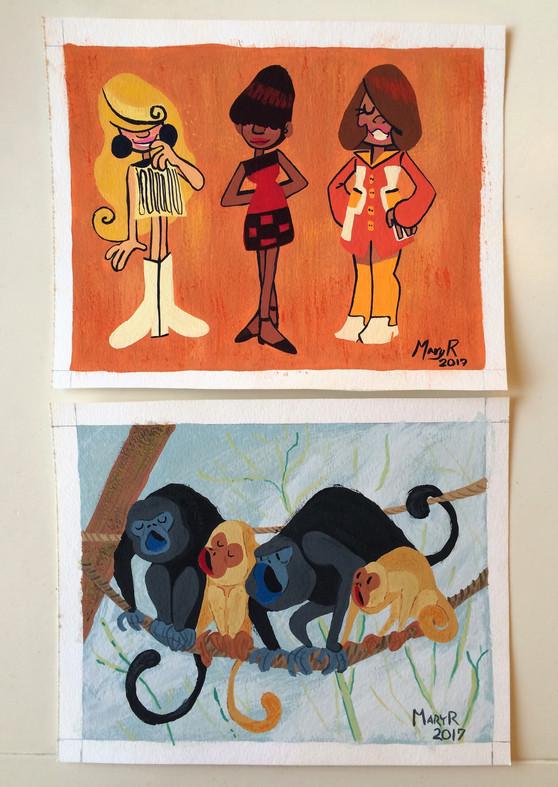 2017 Gouache Paintings