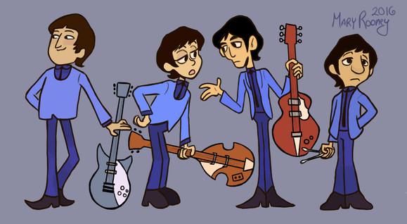 Beatles Cartoon Redesigns