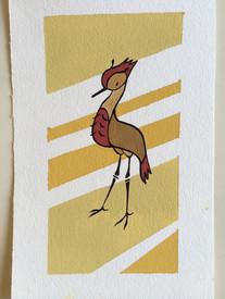 Gouache Crane