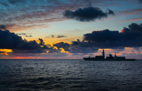 Royal Navy Type 23 frigate in the Arctic