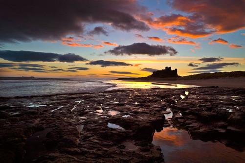 BAMBURGH BEACH SUNRISE