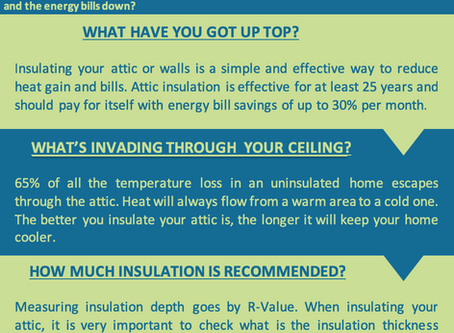 What's is the connection between insulation and energy savings