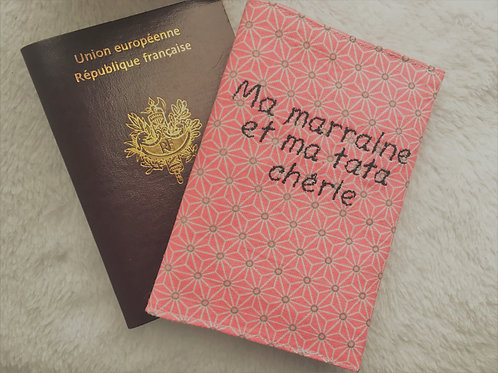 Protège passeport rose