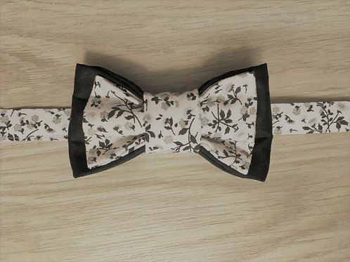 Noeud papillon double black and white