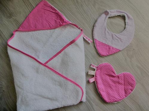 Kit de naissance, rose à pois