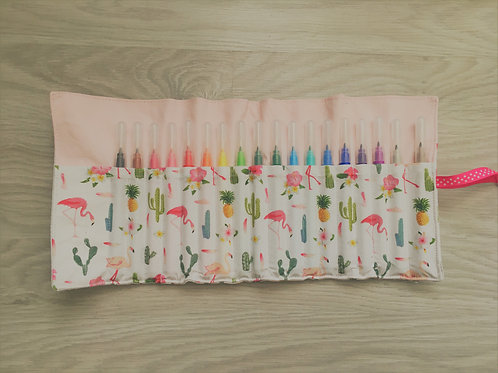 Trousse feutre tropical
