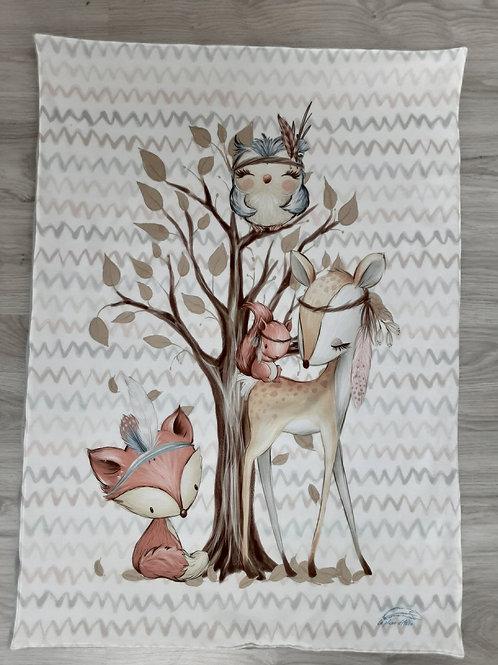 Couverture de naissance animaux de la forêt