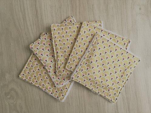 Lingettes lavables (5)