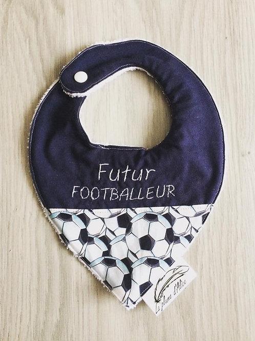 "Bavoir bandana ""futur footballeur"""