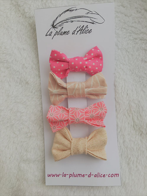 Lot de 4 barrettes