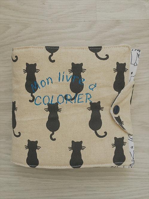 Coloriage écologique chat